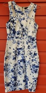 Fitted Dress From Ally, Sz 8, Blue and White.